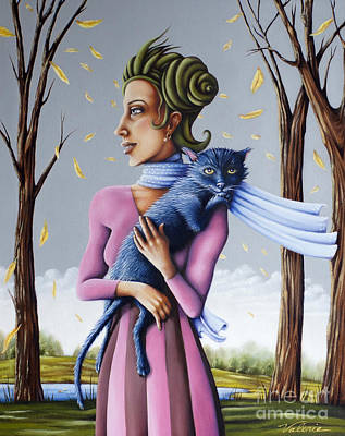 Painting - Miss Pinky's Outing by Valerie White