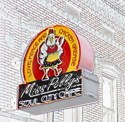 Miss Polly's Soul Cafe Art Print