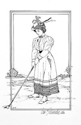Miss Potts Gets A Hole In One Original by Ira Shander