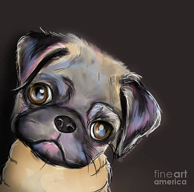 Painting - Miss Pug by Catia Cho