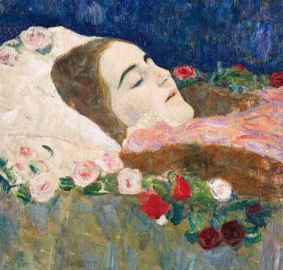 Sombre Painting - Miss Ria Munk On Her Deathbed by Gustav Klimt