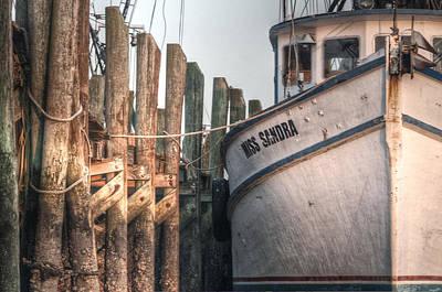 Shrimpboats Wall Art - Photograph - Miss Sandra by Scott Hansen