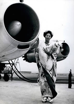 Miss Universe Opens Polar Route Of Air Franc Art Print by Retro Images Archive
