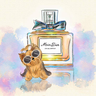 Painting - Miss Yorkie Parfum by Catia Cho