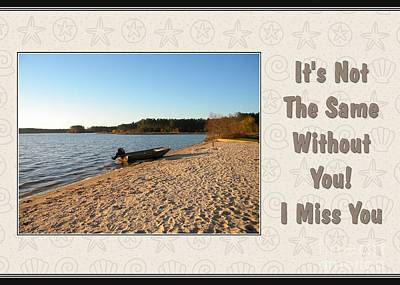 Digital Art - Miss You Lake Crabtree by JH Designs