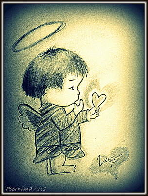 Drawing - Miss You by Poornima M