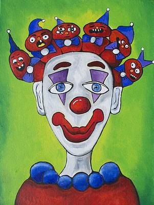 Miss.curly Clown Art Print by Patricia Arroyo