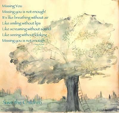 Sandy Hook Digital Art - Missing You by Chaya Rosen Author Lucie Menard Artist