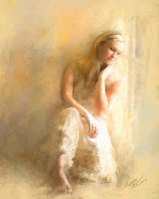 Contemplative Painting - Missing You by Diana Ralph
