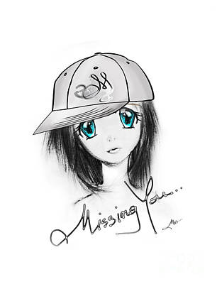 Manga Drawing - Missing You by Mo T