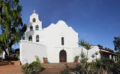 Missions California Photograph - Mission Basilica San Diego De Alcala by Stephen Stookey