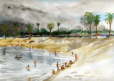 Painting - Mission Bay 1 by Brian Meyer