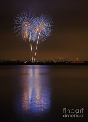 Photograph - Mission Bay Fireworks by Eddie Yerkish