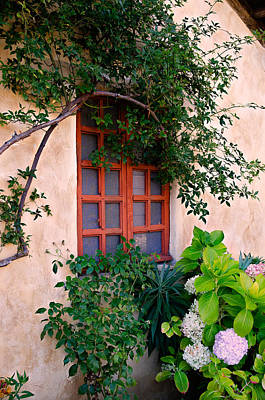 Photograph - Mission Carmel Window by James Hammond