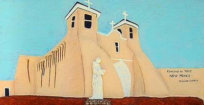 Sculpture - Mission Church New Mexico by Alberto H-B