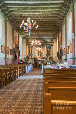 Photograph - Mission Church Vertical Ventura Ca by David Zanzinger