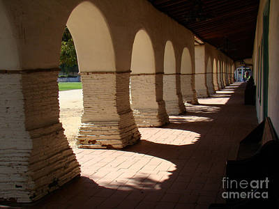 Mission San Juan Bautista Photograph - Mission Cloister by Eva Kato