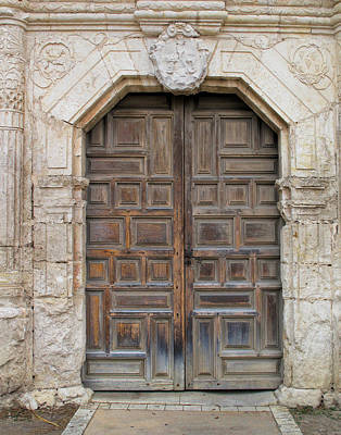 Photograph - Mission Concepcion Door  by David and Carol Kelly