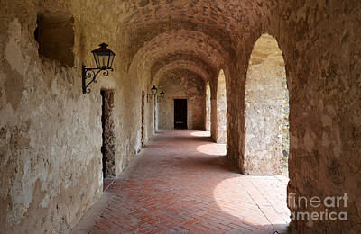 Mission Concepcion Promenade Walkway In San Antonio Missions National Historical Park Texas Art Print by Shawn O'Brien