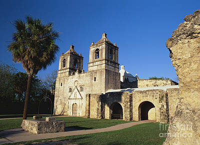 Historic Battle Site Photograph - Mission Concepcion, San Antonio, Texas by David Davis