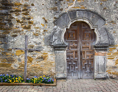 Photograph - Mission Door by Dwight Theall