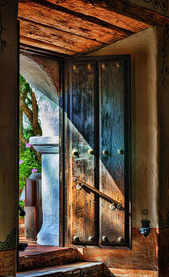 Water Droplets Sharon Johnstone - Mission Door by Joan Carroll