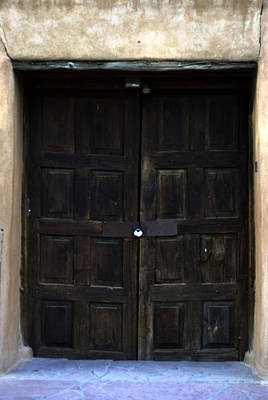 Chimayo Nm Photograph - Mission Doors by Pam Romjue