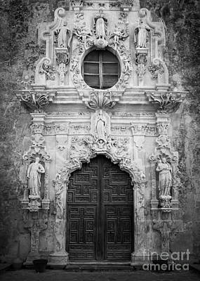 Religious Art Photograph - Mission Entrance by Inge Johnsson