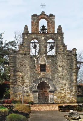 Photograph - Mission Espada Chapel  by David and Carol Kelly