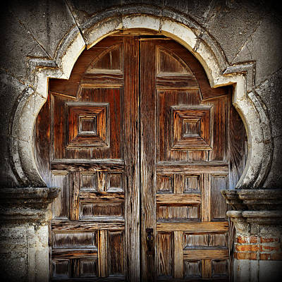 Mission Espada Doors Art Print