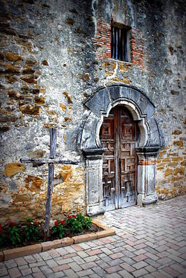 Mission Espada - Doorway Art Print by Beth Vincent