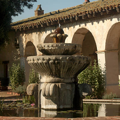 Photograph - Mission Fountain by Art Block Collections