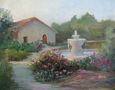 Painting - Mission Fountain by Judy Fischer Walton