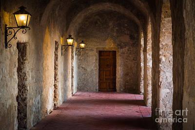 San Antonio Photograph - Mission Hallway by Inge Johnsson