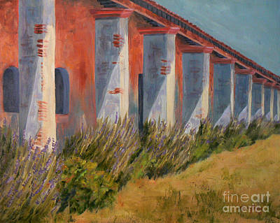 Art Print featuring the painting Mission Lavender by Terry Taylor