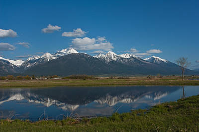 Wall Art - Photograph - Mission Mountain Reflections by Diana Marcoux