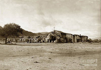 Photograph - Mission San Antonio De Padua California Circa 1903 by California Views Archives Mr Pat Hathaway Archives