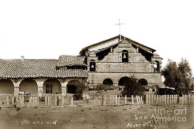 Mission San Antonio De Padua California Circa 1885 Art Print by California Views Mr Pat Hathaway Archives