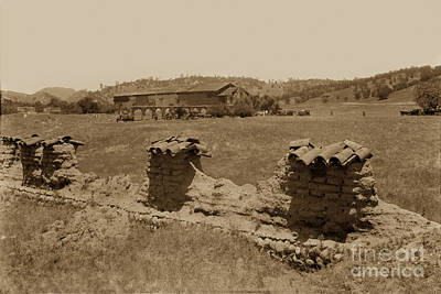 Photograph - Mission San Antonio De Padua Circa 1928 by California Views Archives Mr Pat Hathaway Archives