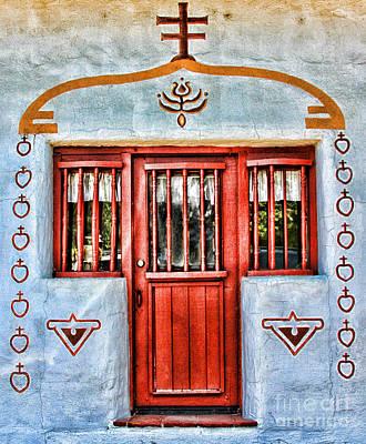 Photograph - Mission San Antonio De Pala Side Door By Diana Sainz by Diana Raquel Sainz