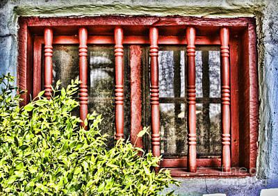 Photograph - Mission San Antonio De Pala Window By Diana Sainz  by Diana Raquel Sainz