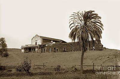 Photograph - Mission San Diego De Alcala California Circa 1890 5x8 Glass Neg. by California Views Archives Mr Pat Hathaway Archives
