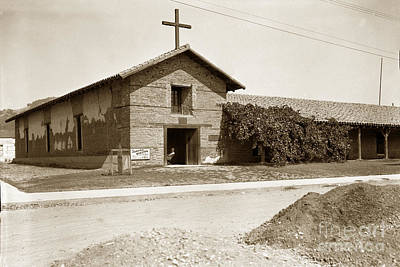 Photograph - Mission San Francisco Solano Sonoma California Circa 1920 by California Views Archives Mr Pat Hathaway Archives