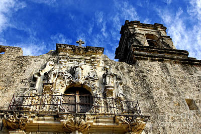 Art Print featuring the photograph Mission San Jose Balcony And Tower by Lincoln Rogers