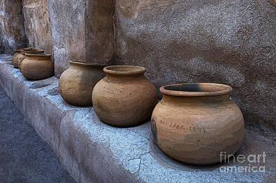 Photograph - Mission San Jose De Tumacacori Pottery by Bob Christopher
