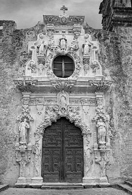 Photograph - Mission San Jose Doorway Bw by Jemmy Archer