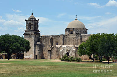 National Parks Photograph - Mission San Jose Profile In San Antonio Missions National Historical Park by Shawn O'Brien
