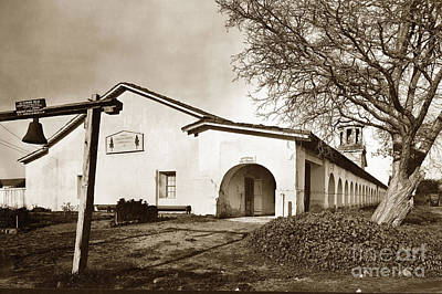 Photograph - Mission San Juan Bautista San Benito County Circa 1920 by California Views Archives Mr Pat Hathaway Archives