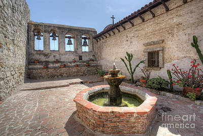 Print featuring the photograph Mission Bells San Juan Capistrano by Martin Konopacki