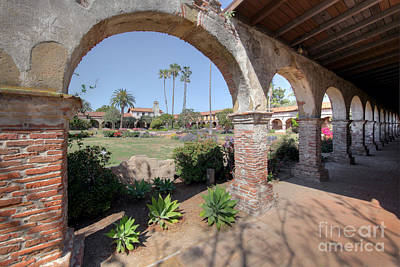 Print featuring the photograph Mission San Juan Capistrano by Martin Konopacki